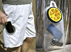 Shorts With A Waterproof Pocket - could use this at amusement parks