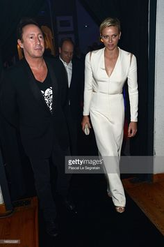 Julian Lennon and Princess Charlene of Monaco arrives at The White Feather Foundation Charity Ball 2013 at Ballet De Monte Carlo on May 10, 2013 in Monaco, Monaco. The event raises funds for Julian Lennon's charity 'The White Feather Foundation' which aims to give a voice and support to those who cannot be heard, aids, ongoing humanitarian and environmental projects, with an emphasis on water projects in 2013.