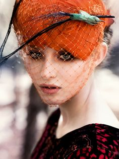 Feathers and Veiling - nice look #judithm #millinery