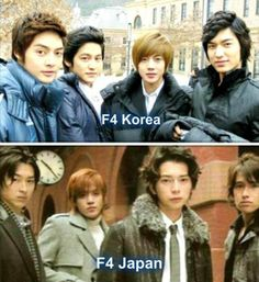 I have to say...the japanese version seems much more F4 to me. They look too happy in this korean picture.