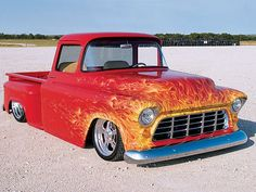 Real Flame 55 Chevy Truck