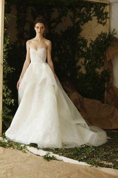 Carolina Herrera Bridal Spring 2017 | #BridalFashionWeek #WeddingDress [Photo: Thomas Iannaccone]