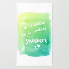 #home #rug #summer #text #watercolor #blue #green #fresh