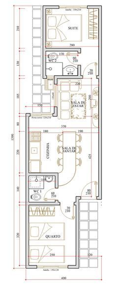Plantas motivational quotes for work - Motivational Quotes Narrow House Plans, House Floor Plans, Building Plans, Building A House, Long House, Small Cottages, House Layouts, Architecture Plan, Plan Design
