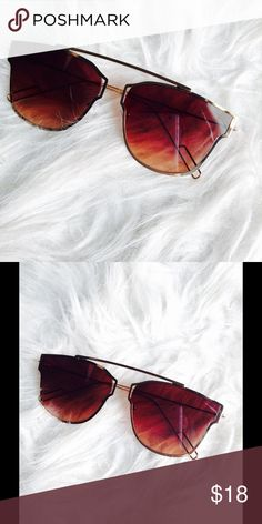 Trendsetter Sunglasses Matte Bronze Havana Shades with Reflected Mirrored Lens  100% UV Protection  Sleek Style Accessories Sunglasses