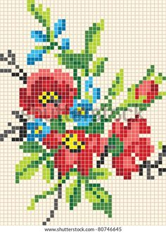Tiny Cross Stitch, Cross Stitch Heart, Cross Stitch Borders, Cross Stitch Flowers, Cross Stitch Kits, Cross Stitch Designs, Cross Stitching, Cross Stitch Embroidery, Hand Embroidery