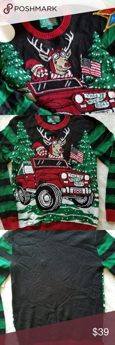 ❄ Men's Light Up X-Mas Sweater ❄ Brand New with tags!  Lights up when you move! Can be seen in dark or light.  Size Small men's. This may fit you if you wear medium as it appears to be a bit larger size for a Small. Runs slightly larger.  Can be worn unisex.  Awesome sweater for the holidays!  Questions? Feel free to ask. Ugly Christmas Sweater Sweaters Crewneck