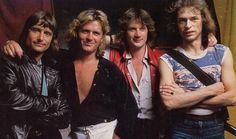 The supergroup Asia in their heyday. Carl Palmer, John Wetton, Geoff Downes and Steve Howe.