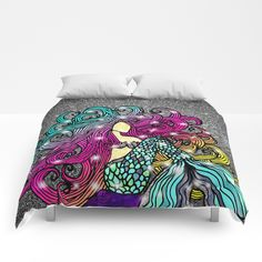 Buy Rainbow Mermaid Comforters by artlovepassion. Worldwide shipping available at Society6.com. Just one of millions of high quality products available.