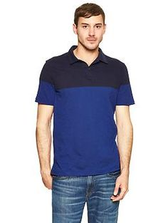 Lived-in colorblock polo | Gap for the hubs
