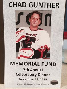 Don Lichterman: The Chad Gunther Memorial Dinner is Tonight at 6PM!