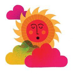 Marc Martin's portfolio, presented by The Jacky Winter Group. Marc Martin, Good Morning Sun, Sun Projects, Jacky Winter, Sun Illustration, Sun Designs, Sun Art, Sun And Stars, Golden Child
