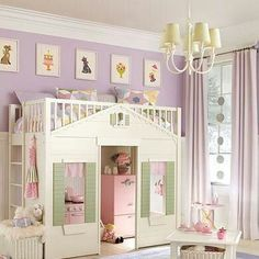 Loft cottage playhouse bed