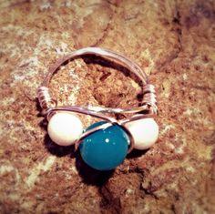 Blue & White Wrap Ring