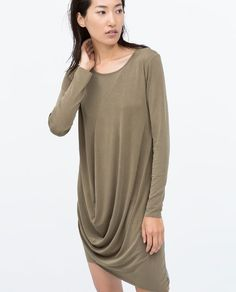 Image 3 of COMBINED CUPRO DRAPED DRESS from Zara