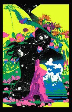 Black light poster Zephyr  1970 by Jupiter Rubin
