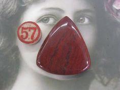 Semi Precious Stone Red Jasper Large Polished by dimestoreemporium, $15.00
