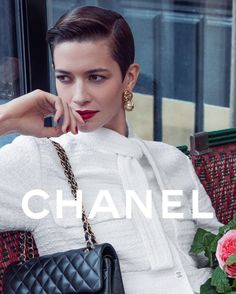 "Why Not Models on Instagram: ""Louise ⚡ @louisedechevigny for @chanelofficial 11.12 Bag Campaign / Creative Director @virginieviard / Shot by @inezandvinoodh / Styling…"" Model Agency, Chanel Boy Bag, Creative Director, High Fashion, Campaign, Shoulder Bag, Models, Makeup, Bags"
