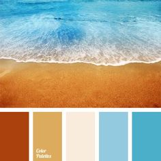 Palette for inspiration lovers of marine subjects - Fair Masters - handmade, handmade Beach Color Palettes, Orange Color Palettes, Warm Colour Palette, Color Balance, Color Swatches, Colour Schemes, Color Combinations, House Colors, Color Inspiration