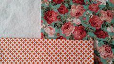 My next project is a rose print tote bag! This is the fabric I used, as well as a green similar to the background on the rose print.   ....