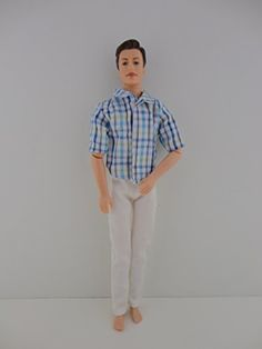 Ken 2pc Outfit White Pants and Great Blue Plaid Shirt Made to Fit the Ken Doll Olivia's Doll Closet http://www.amazon.com/dp/B00KGEP8CA/ref=cm_sw_r_pi_dp_yACWub1MMEA31