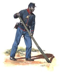 Research reveals this unit was issued uniform jackets instead of the usual dress coats. Historical Art, Historical Pictures, Us Army Uniforms, Civil War Art, Union Army, American Civil War, War Machine, Military History, World History
