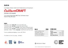 CultureCraft opening @ the National Craft Gallery, Kilkenny Ireland
