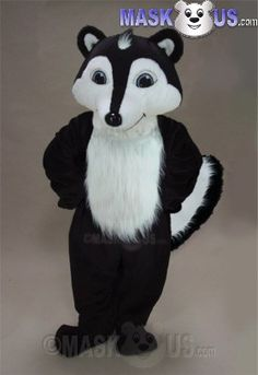Skunk Mask Forest Animal Fancy Dress Up Halloween Deluxe Adult Costume Accessory