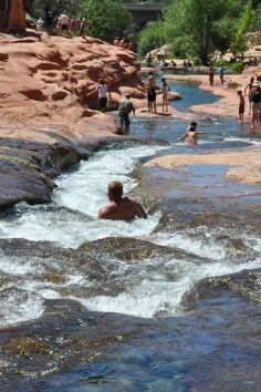 Slide Rock State Park (by Sedona) the place to be in an Arizona summer