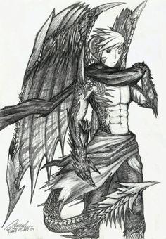 Resultado de imagem para humano dragão
