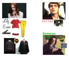 """""""Lily, James, and Severus."""" by rebel-dawnie ❤ liked on Polyvore featuring 7 For All Mankind and Anna October"""