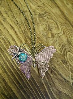 on the wings of a butterfly necklace £15.00