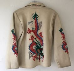 Korean Fashion Hat Vintage Mexican Wool Felt Jacket Embroidered with Qing Dynasty Dragons Indie Fashion, Retro Fashion, Korean Fashion, Vintage Fashion, Mens Fashion, Qing Dynasty, Black Girl Fashion, Fashion Images, Fashion Tips For Women