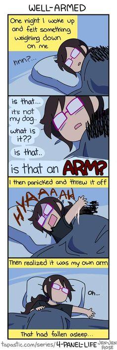 4-Panel Life :: WELL-ARMED   Tapastic Comics - image 1