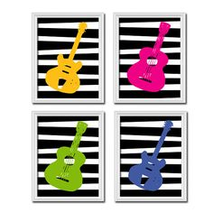 Hey, I found this really awesome Etsy listing at https://www.etsy.com/listing/163066699/guitar-music-boy-girl-bold-colorful