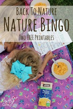 Getting back to life's simple things. A free printable nature bingo game. #Ad #BackToPlay