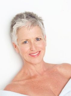 PAM CAMPBELL grey hair, silver hair