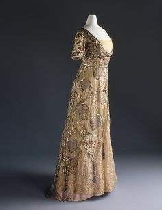 """Evening dress Design House: Callot Soeurs (French, active 1895–1937) Date: 1910–14 Culture: French Medium: cotton, silk, metal"" (quote) ©The Metropolitan Museum of Art via metmuseum.org"
