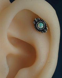 cartilage earring cartilage piercing helix piercing opal helix earring 16g gold unique boho bohemian jewelry by JennyAndWind on Etsy https://www.etsy.com/listing/242023133/cartilage-earring-cartilage-piercing