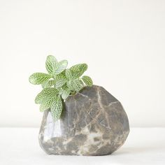 Stone Quartz Vase Geometrical Decorative Piece by Sevenstone, $79.00