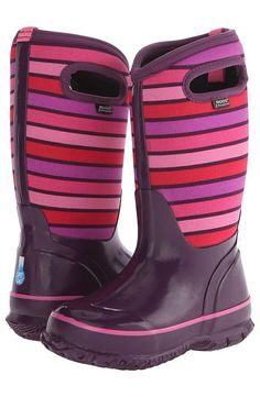 Bogs Kids Classic Stripes (Toddler/Little Kid/Big Kid) (Purple Multi) Girls Shoes - Bogs Kids, Classic Stripes (Toddler/Little Kid/Big Kid), 71849-540, Footwear Boot Rain, Rain, Boot, Footwear, Shoes, Gift - Outfit Ideas And Street Style 2017