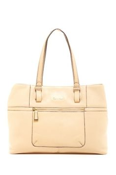 Calvin Klein Jones Leather Tote Bag by Arm Candy (=)