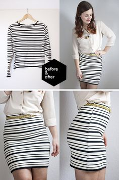 Simple and Cute DIY Skirt Ideas and Tutorial by DIY Ready at http://diyready.com/diy-clothes-pants-skirts-for-women/