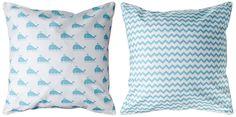 Marathon - Whale & Chevron Pillow