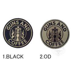 GUNS AND COFFEE 丸型ワッペン 税抜 2,200円