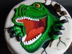 t rex cake T Rex Cake, Dino Cake, Dinosaur Birthday Cakes, Dinosaur Cake, Cupcakes, Cupcake Cakes, Jurassic World Cake, The Joy Of Baking, Cakes For Boys