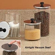 Set/3 Vacuum Seal Jars @ Fresh Finds