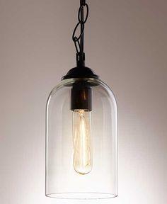Vintage Industrial Glass Pendant Lamps