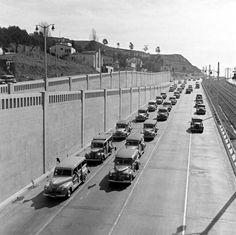 Traffic Scene, Cahuenga Pass, Los Angeles, 1942