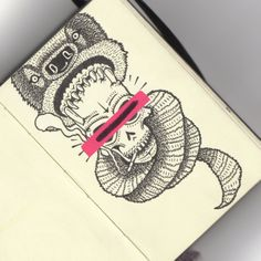 Handmade on Moleskin by Visualflip AKA Filo Restrepo